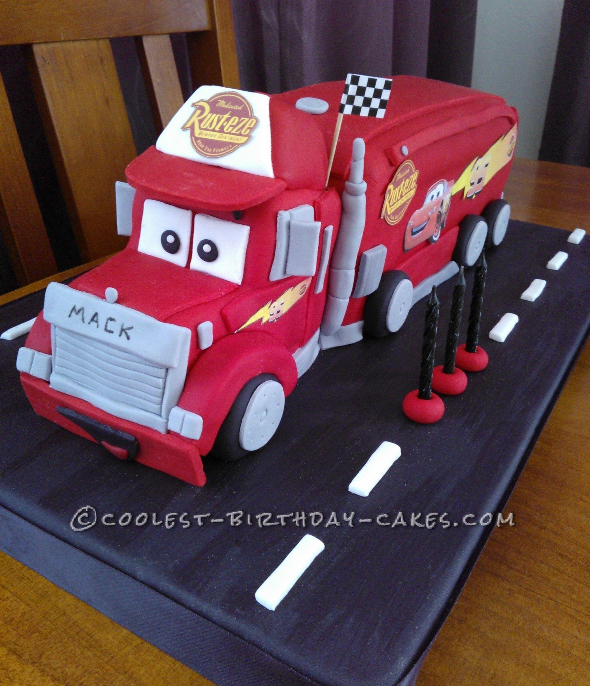 Disneys Mack Truck Cake