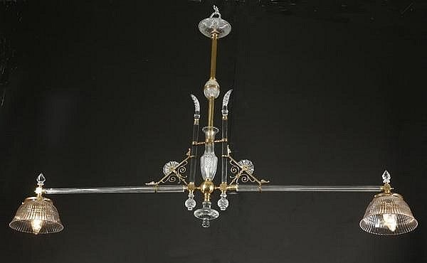 Bronze And Crystal 2 Light Chandelier