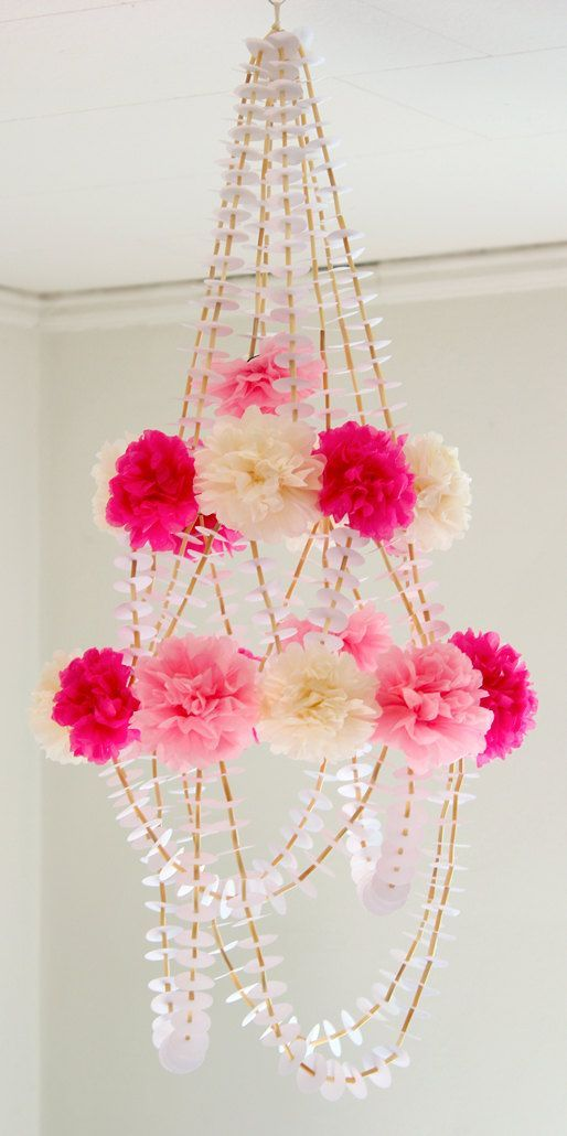 Pom Paper Chandelier Adorable Idea For A Baby S Room