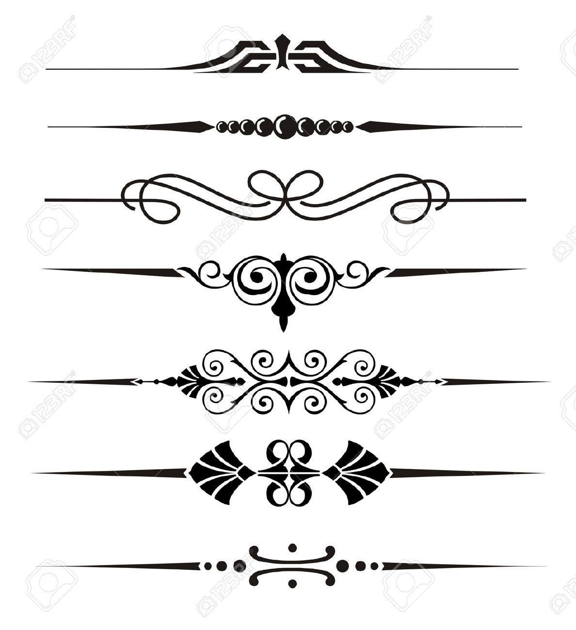 Vecter Divider Ornaments And Graphical Elements Royalty Free Cliparts Vectors And Stock