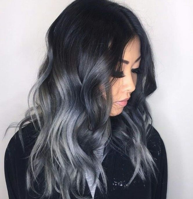 Black hair with red and gray highlights the best black hair 2017 best 25 white highlights ideas on blonde with brown pmusecretfo Images