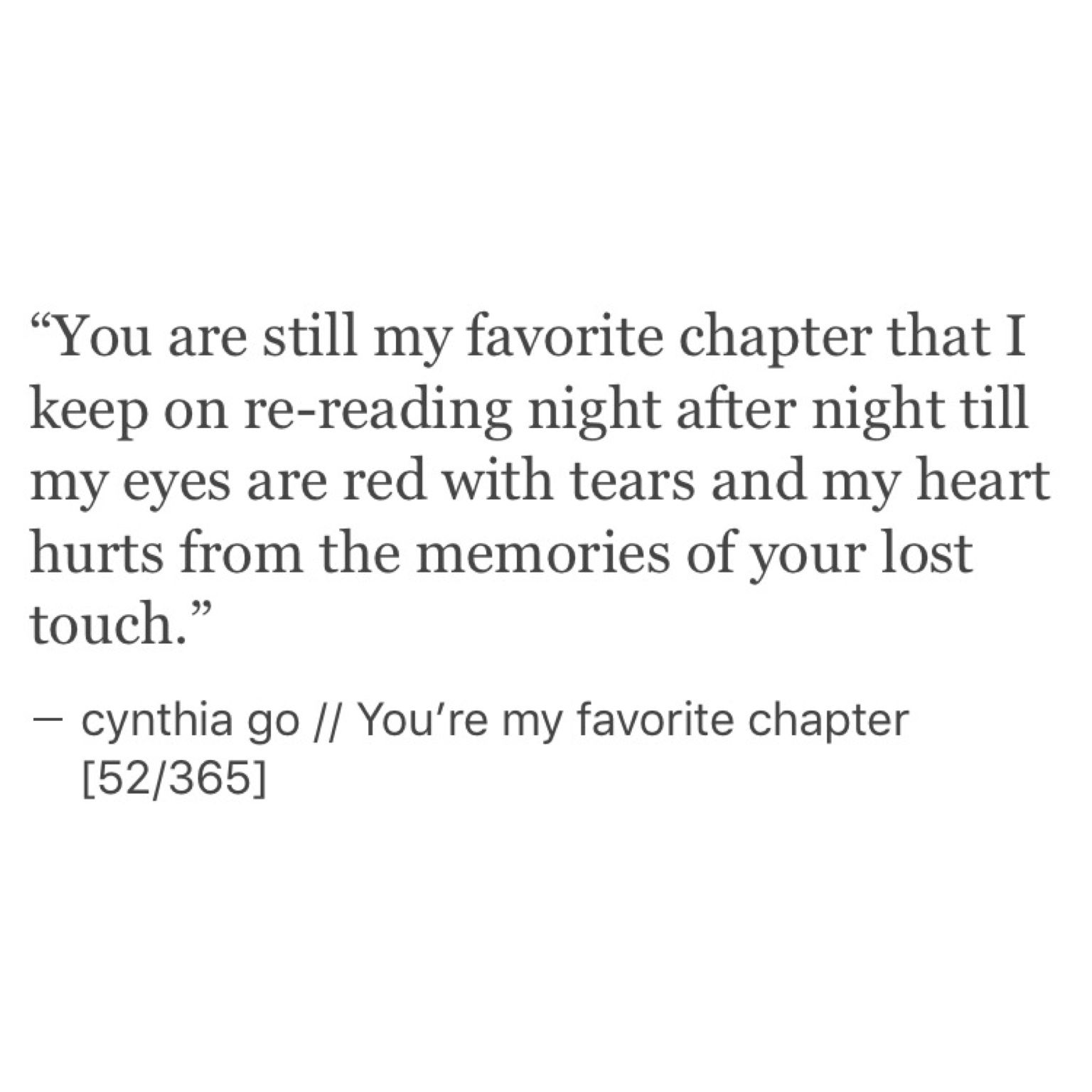 You Re My Favorite Chapter