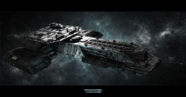 Daedalus in space by SGAMaddin on deviantART SciFi