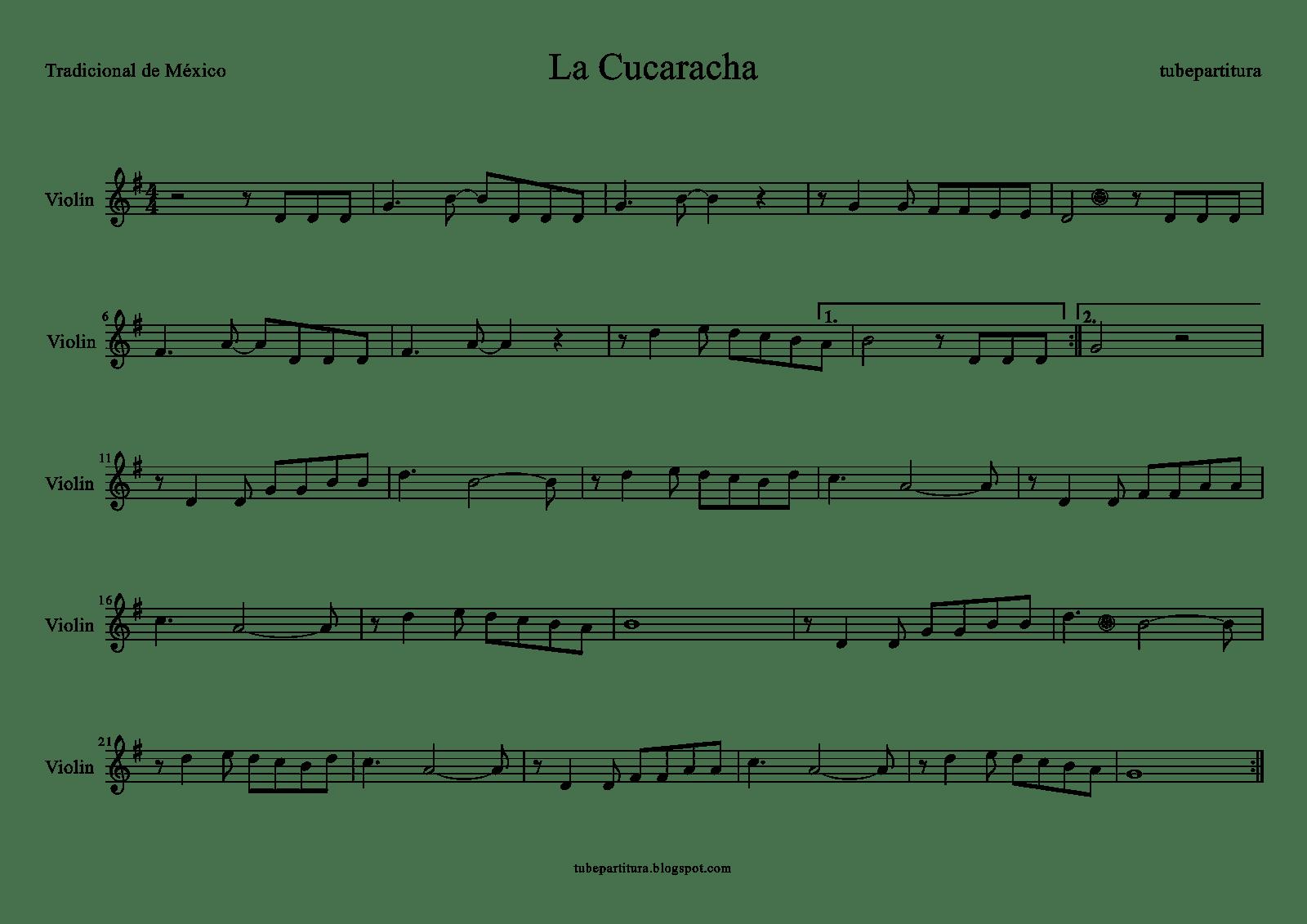 La Cucaracha Violin 1