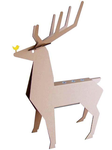 Cardboard Deer PaperampPapier Mache Pinterest Cerf