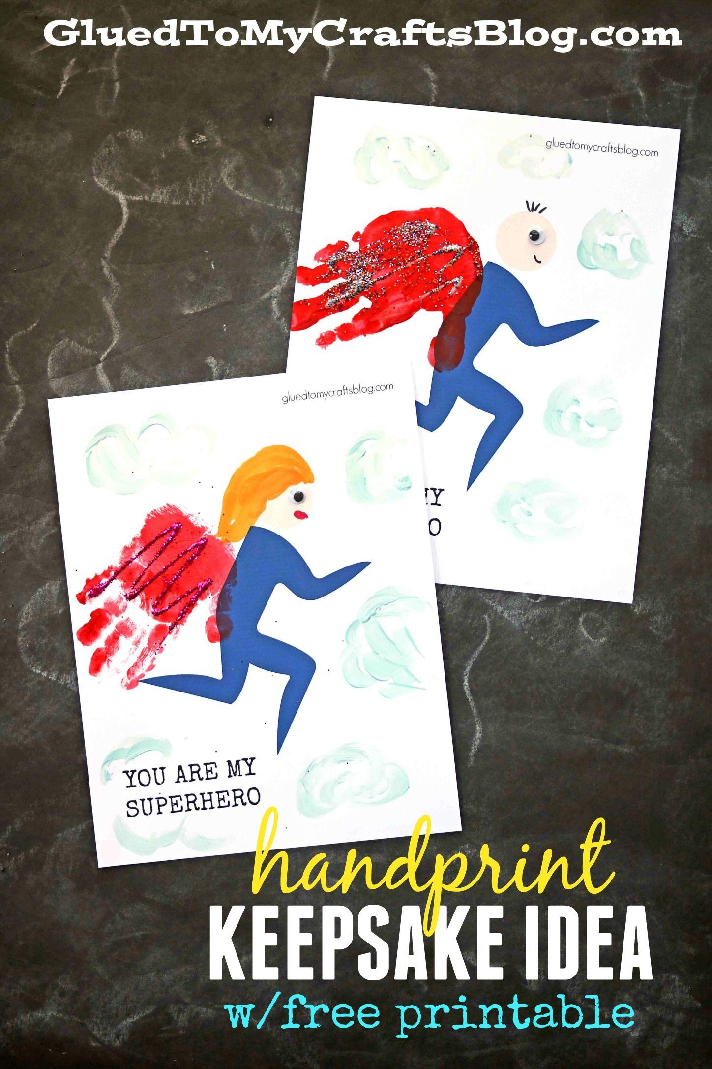 Handprint Superhero