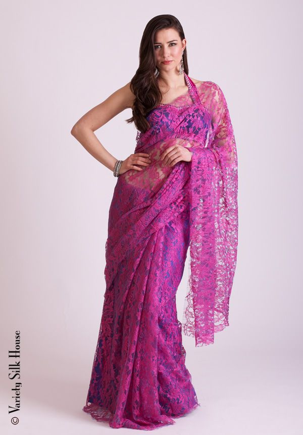 16548 Chantilly Lace A Beautiful French Saree Be Unique