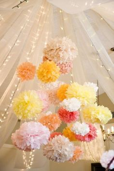 Wedding Decorations Tissue Paper Pom Poms Party Decor Craft Ball Mixed Can Choose China Mainland