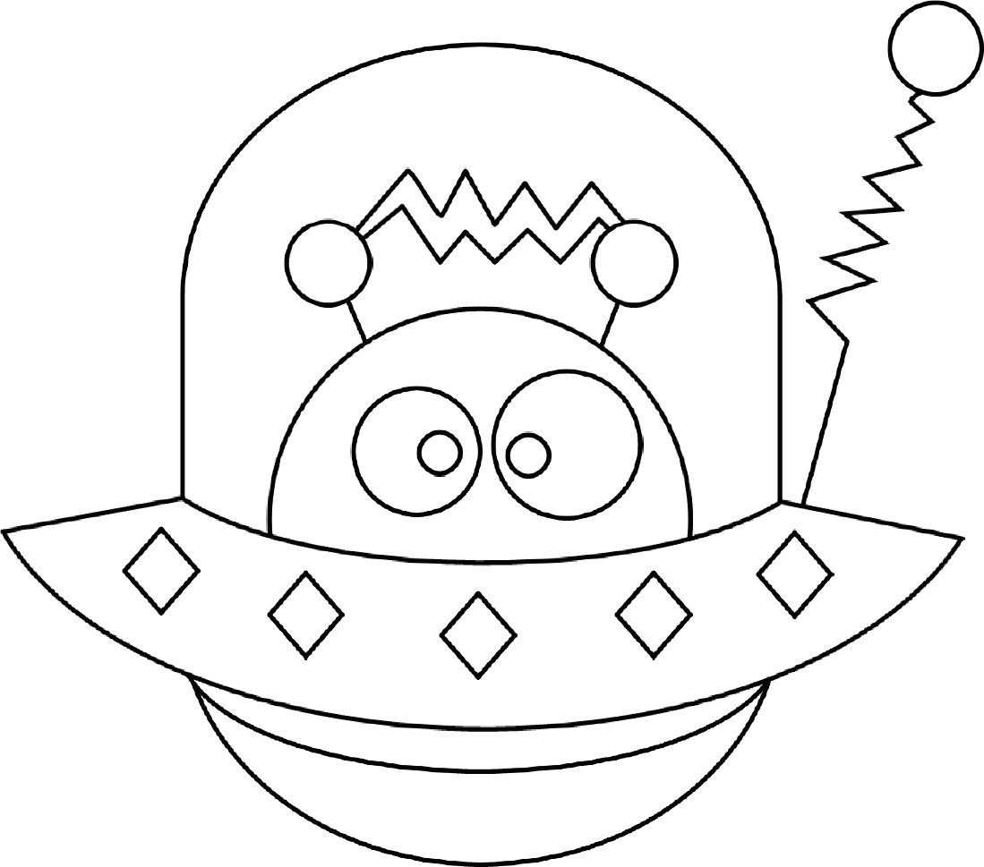 Alien Photo Coloring Pages Printable