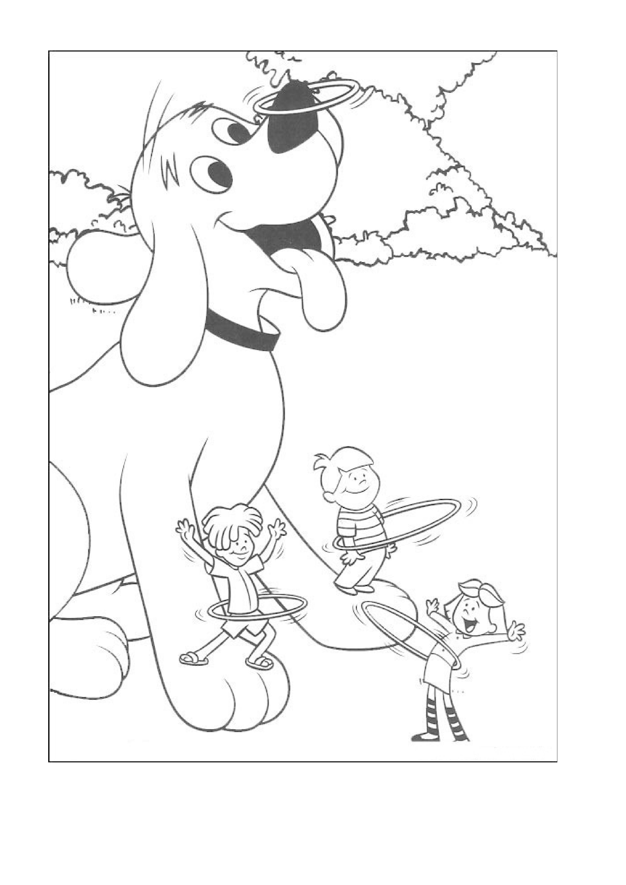 Coloring Pages Of Clifford The Big Red Dog Pictures To