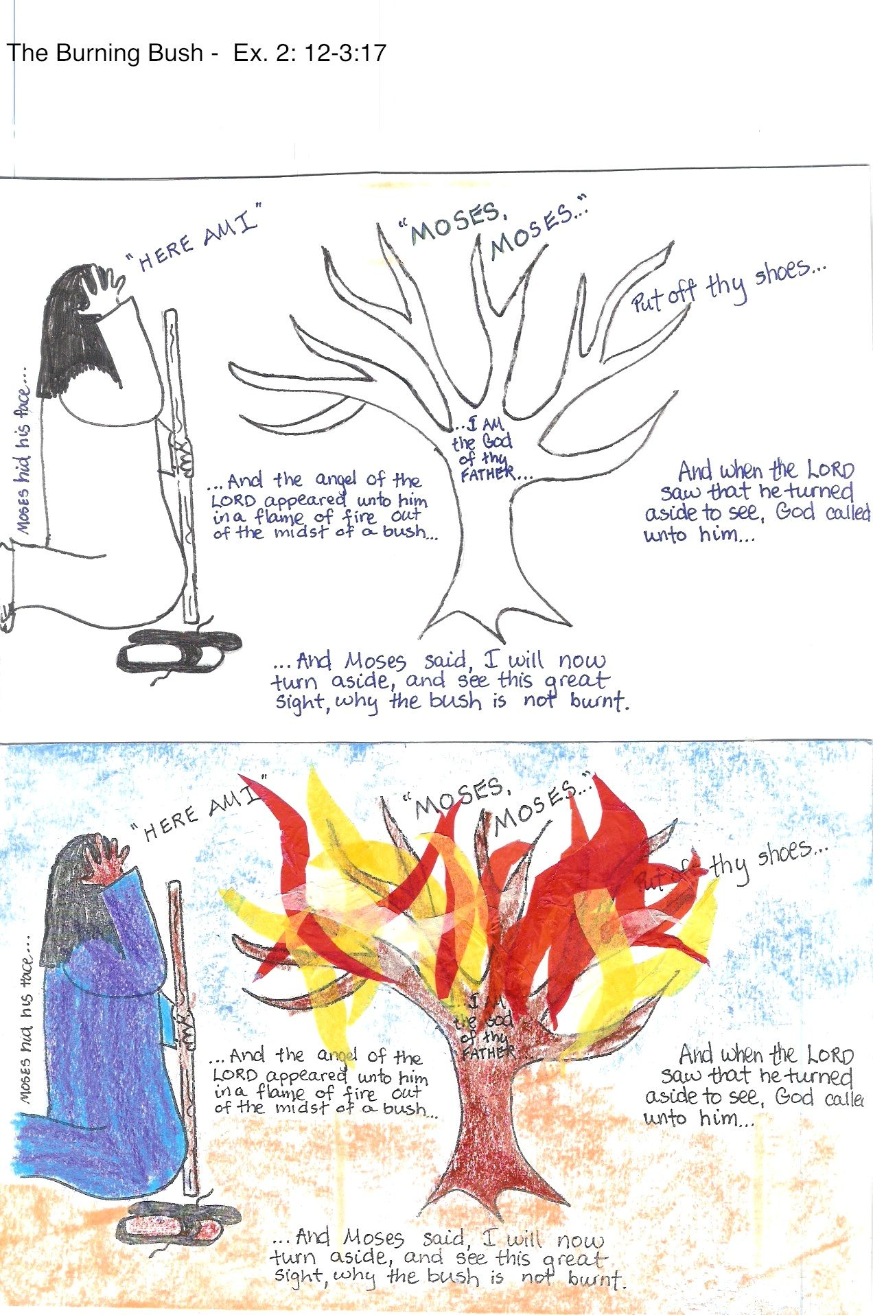 Moses Burning Bush Printable Activities Pictures To Pin