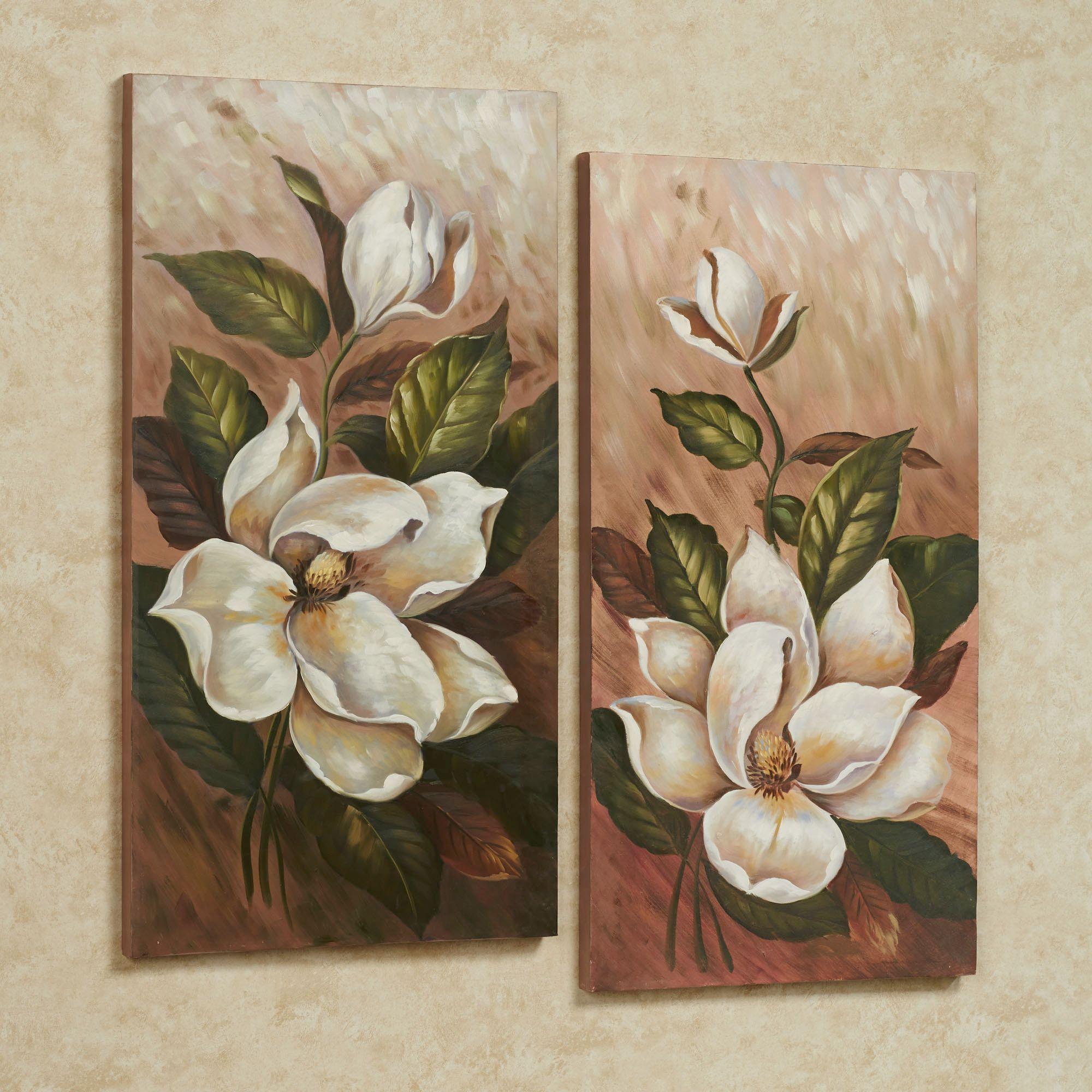 annalynn magnolia floral canvas wall art set wall art on canvas wall art id=82889