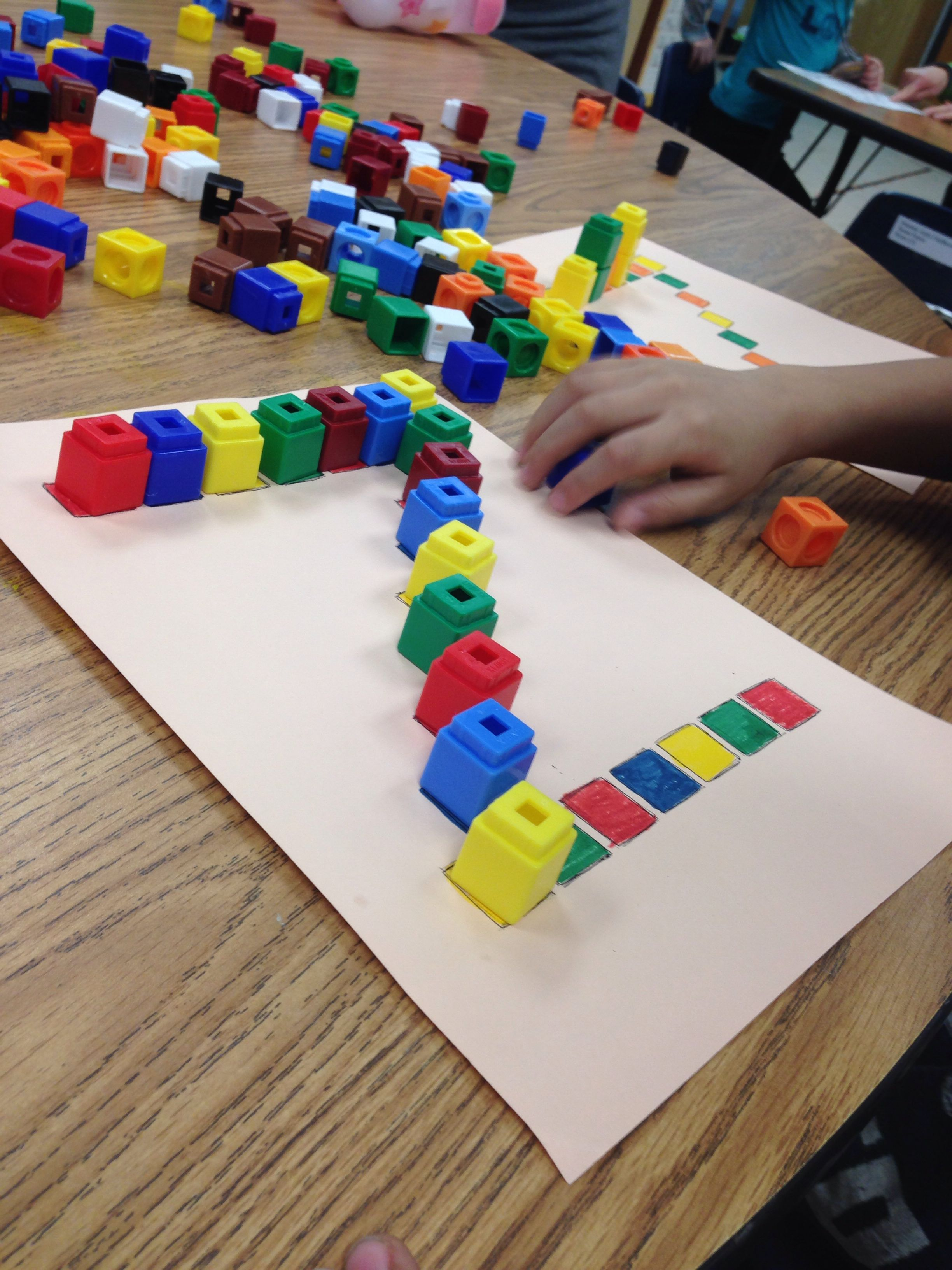 Color Recognition Learning Patterns And Making Letters With Unifix Cubes Pre K Literacy Or