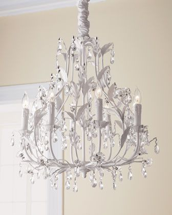 White Leaf Chandelier Traditional Chandeliers