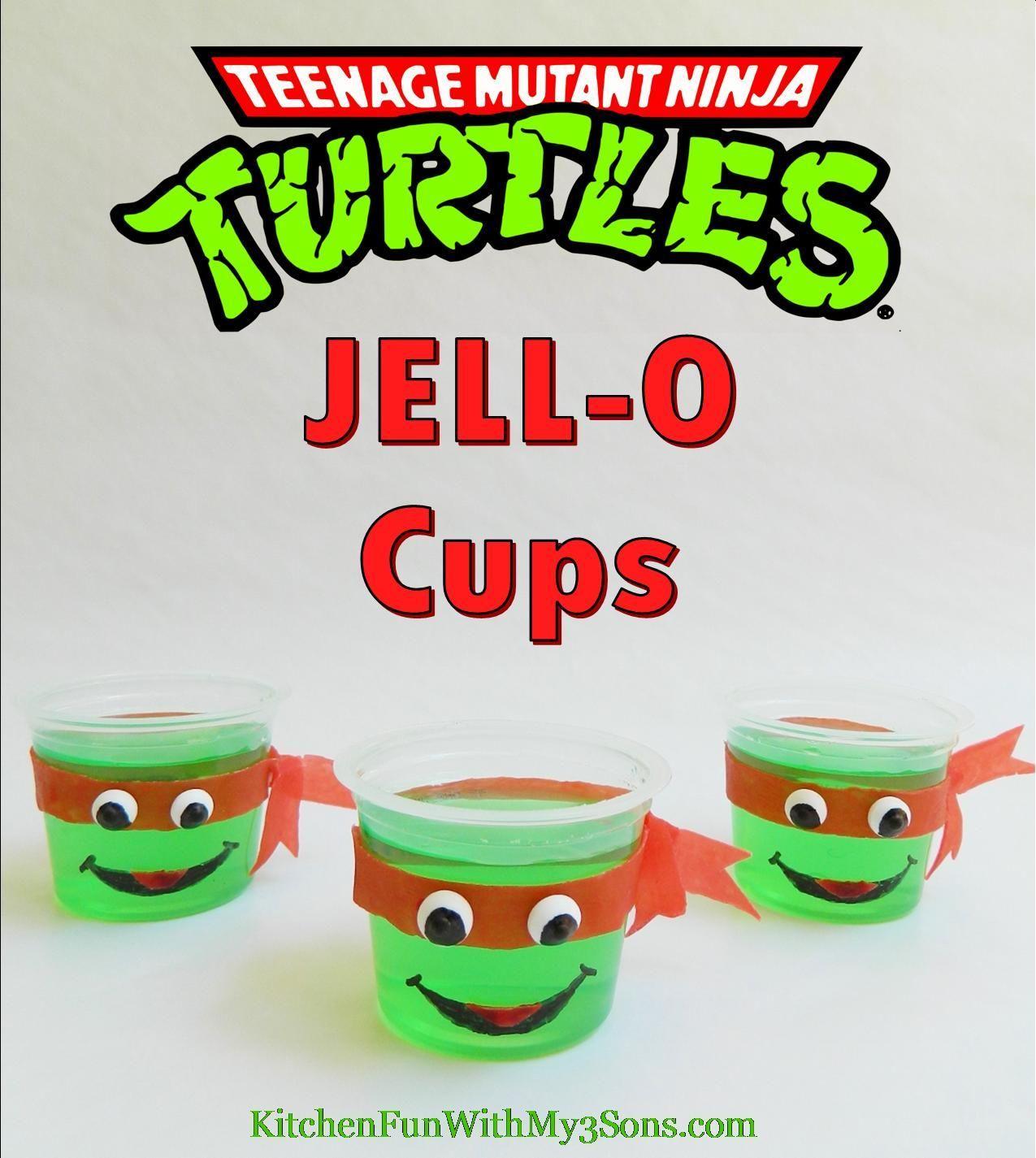 Ninja Turtle Jello Cups Jello Kids Party Ideas Teenage Mutant Ninja Turtle Kids Food Kids