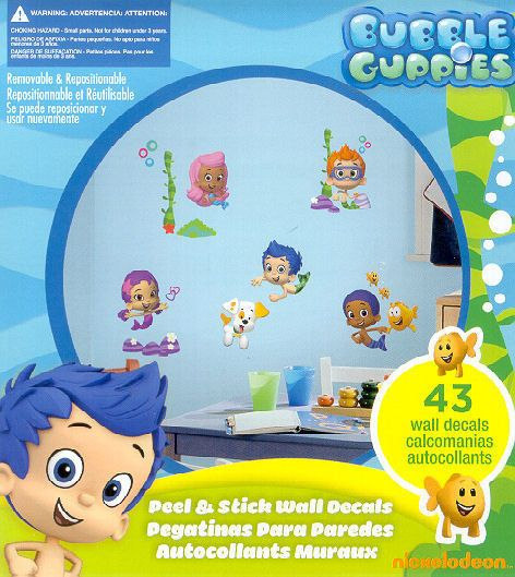 bubble guppies wall stickers 43 decals bubbletucky deema gil oona