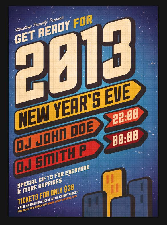 creative party new year poster