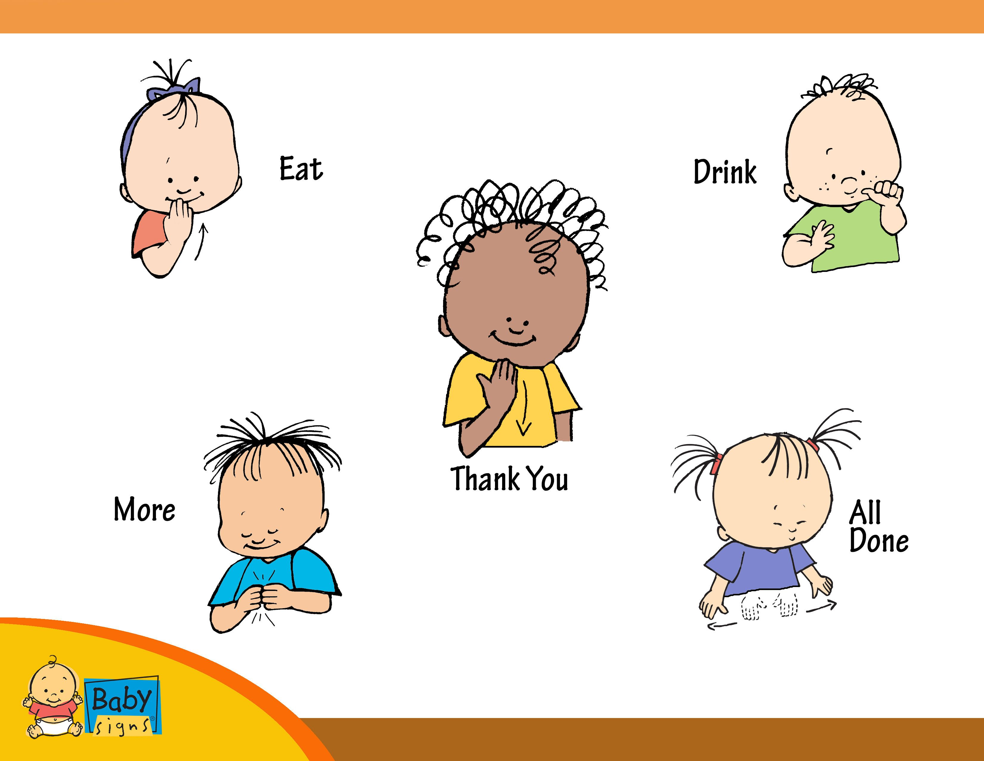 Holiday Placemat Poster With Signs For Eat Drink Thank You More And All Done Babysigns