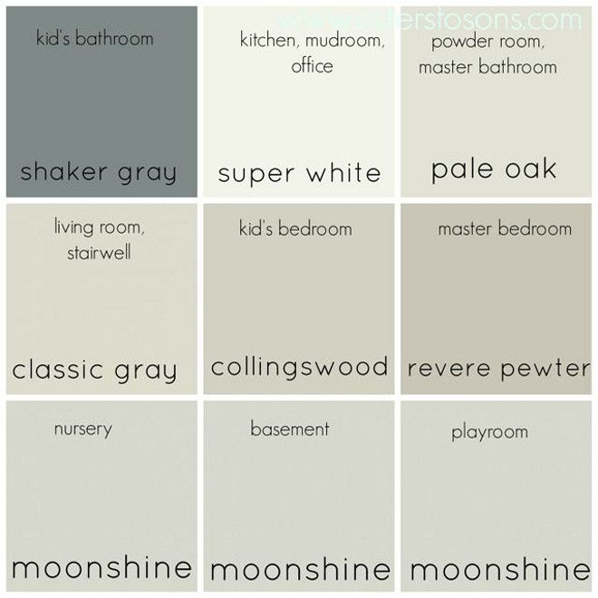 whole neutral color palette entire home neutral color on benjamin moore paint color palette id=88485