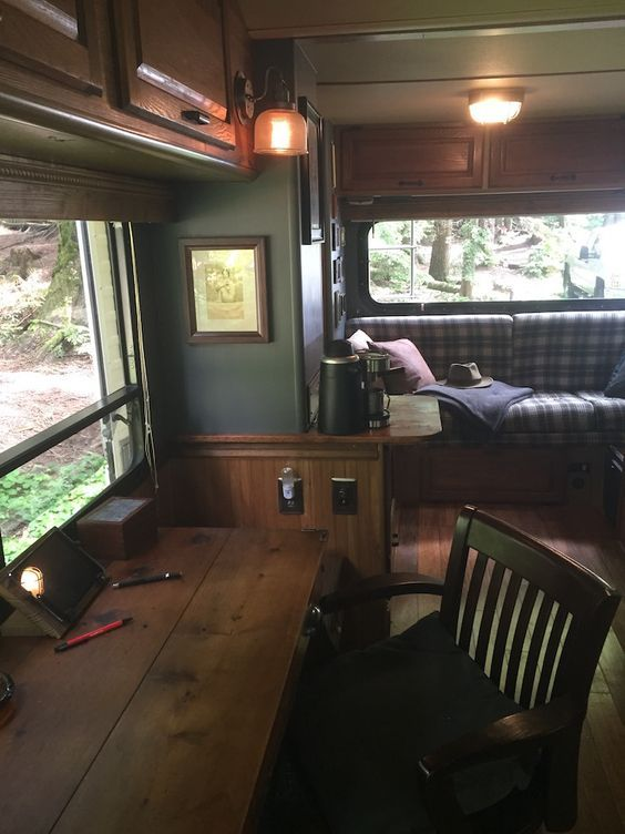 Fine Artists Rustic Renovation Of 20 Foot Winnebago