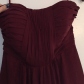 Strapless long burgundy formal dress size prom and customer support
