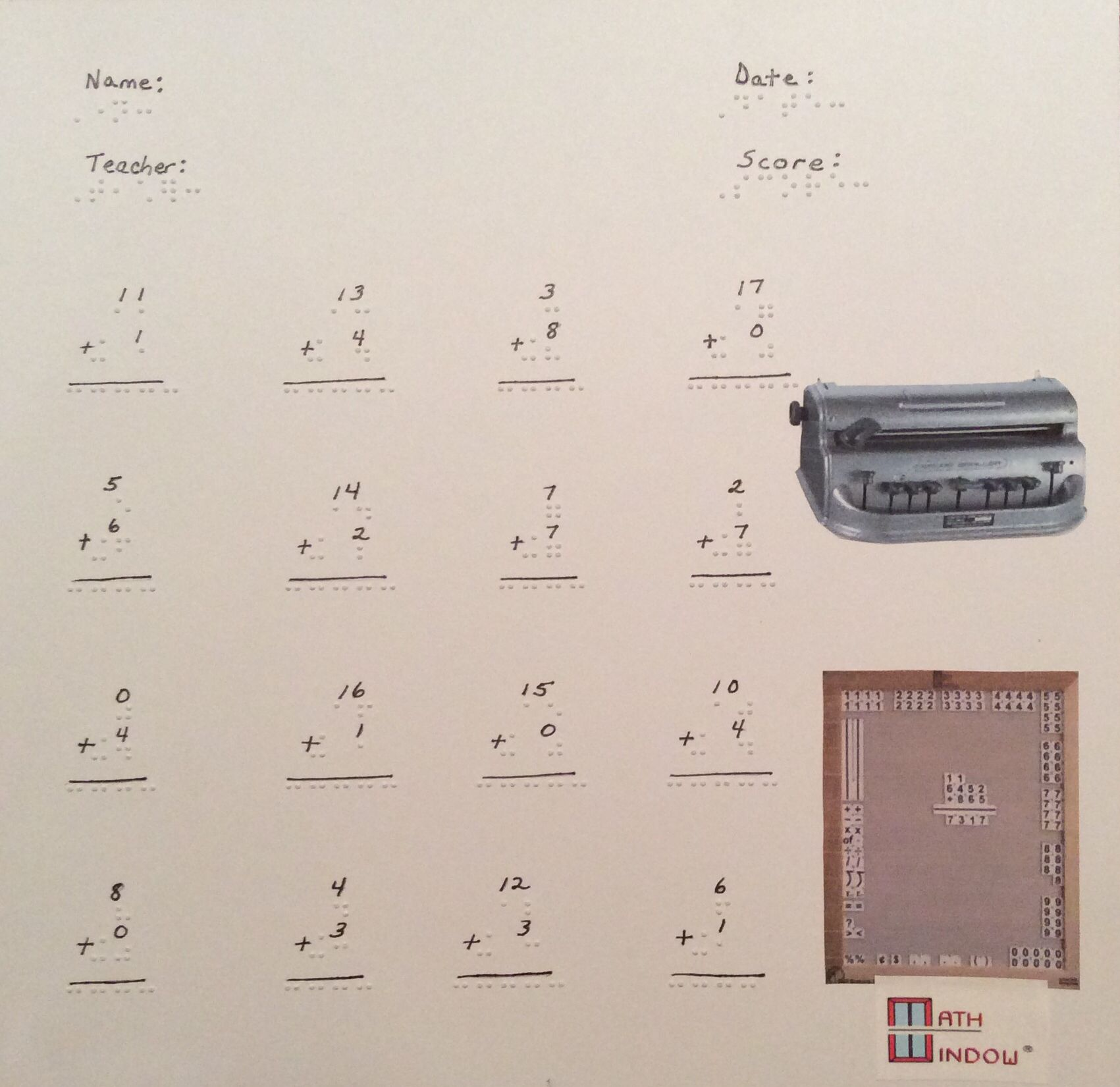 Simple Teacher Math Worksheets Practice Vertical And Spatial Math Operations Early And Often It