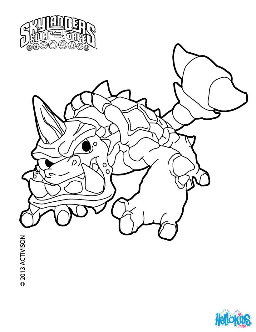 Skylanders Swap Force Slobber Tooth Coloring Page More Content On