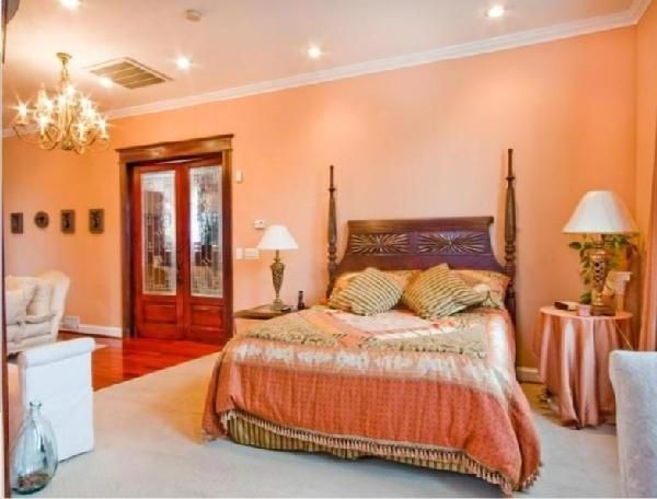 images of peach bedrooms with brown furniture - google search