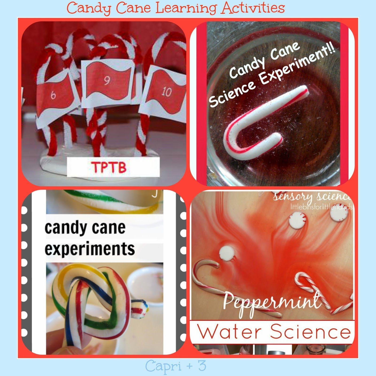 Fun Candy Cane Themed Learning Activities Math Reading