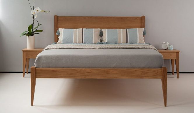 The Cochin Is A Contemporary Take On Classic Bed In Solid Wood Handmade