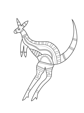 Click To See Printable Version Of Aboriginal Kangaroo