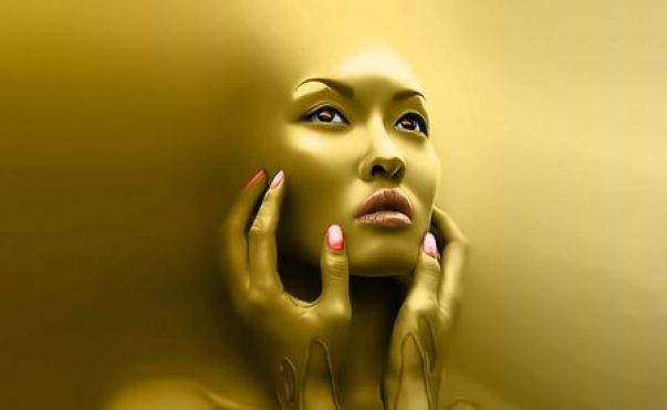 Image result for gold face