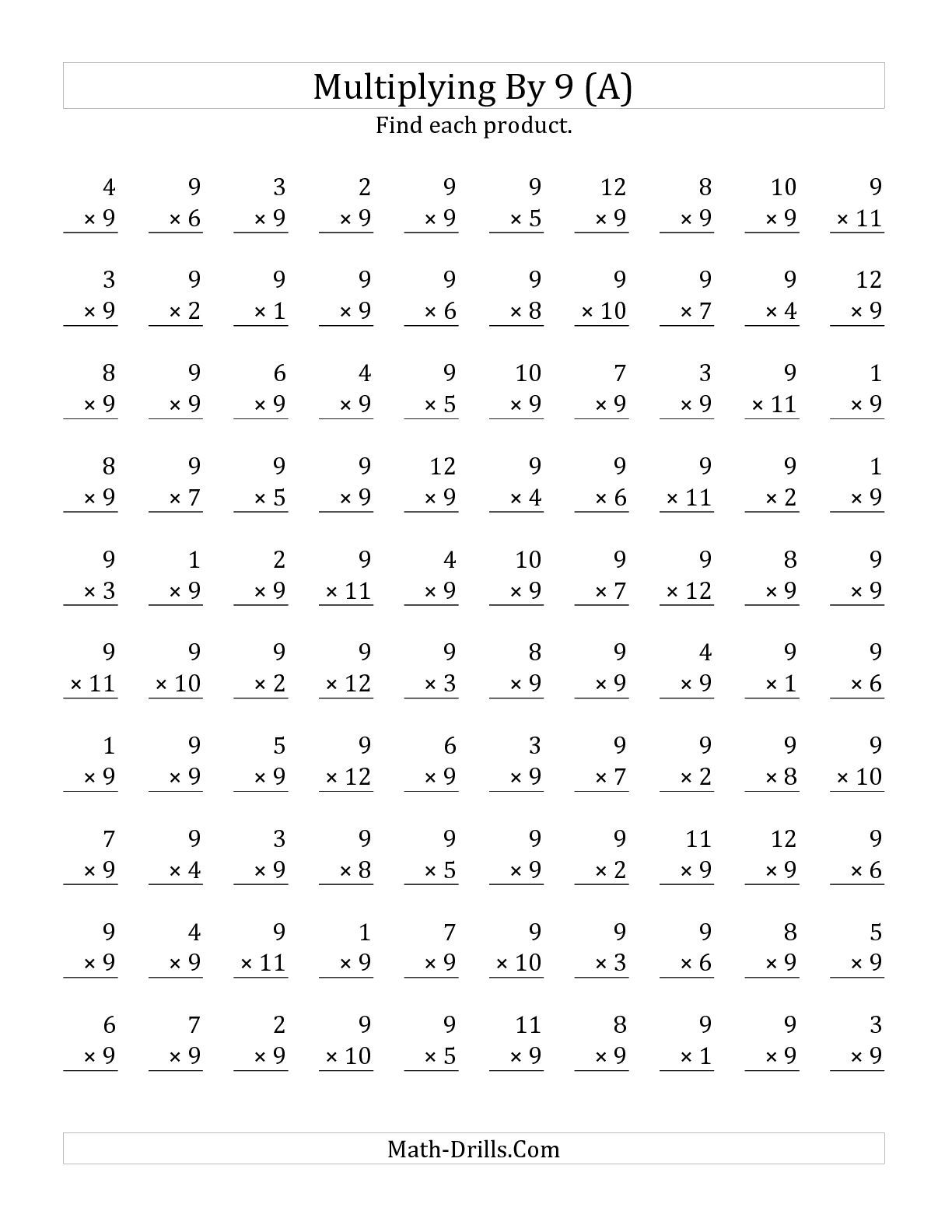 One Minute Timed Math Worksheet