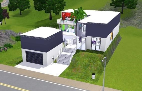 Modern House Plans Sims 3 Amazing House Plans