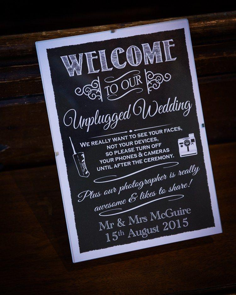 Un Plugged Sign Black Board Colourful Diy Village Fete Wedding