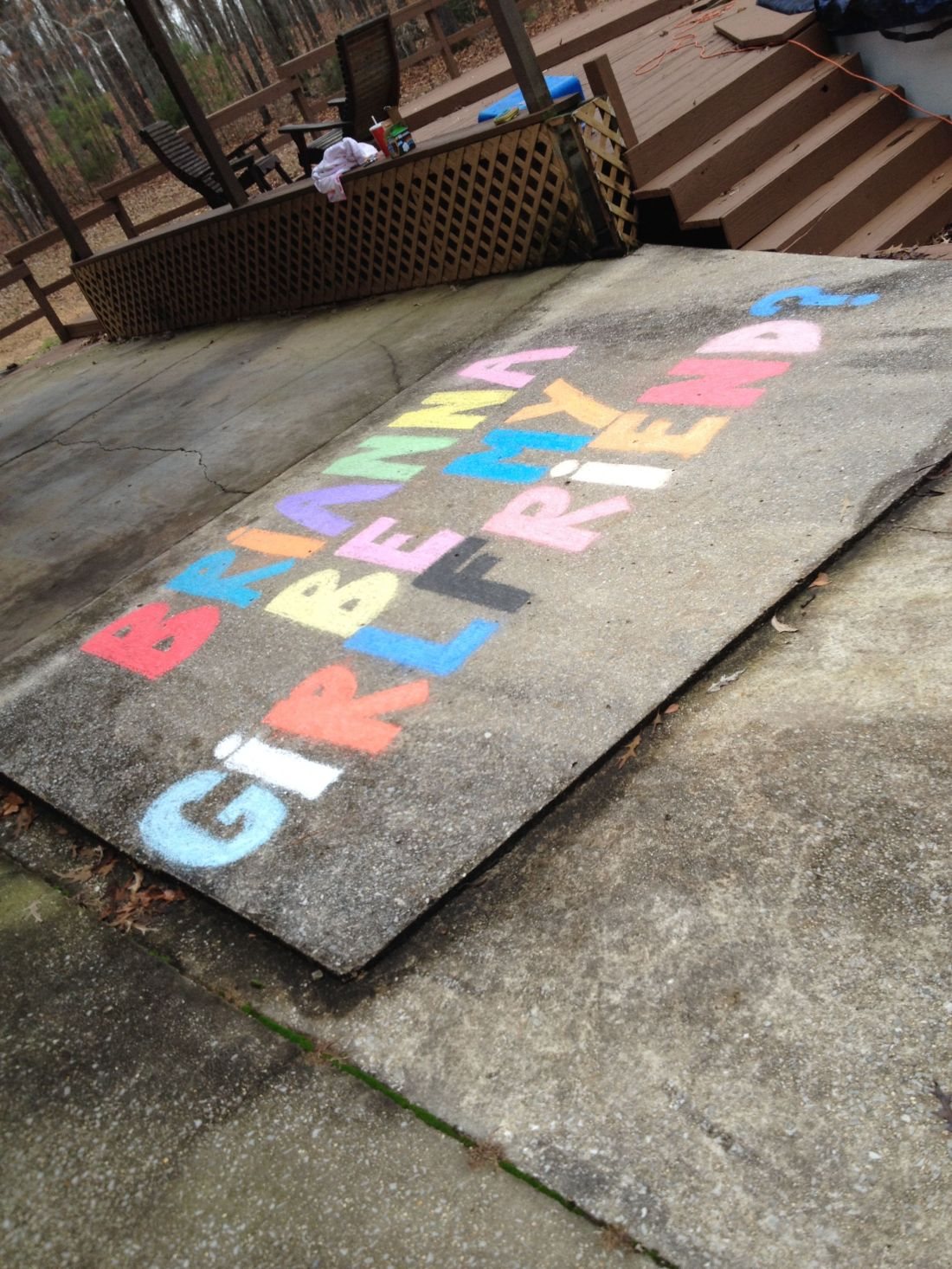 A cute way to ask someone to be there girlfriend surprise