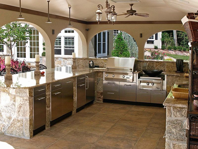 awesome outdoor kitchen designs and ideas kitchen design kitchen ranges and kitchens on outdoor kitchen plans layout id=44645