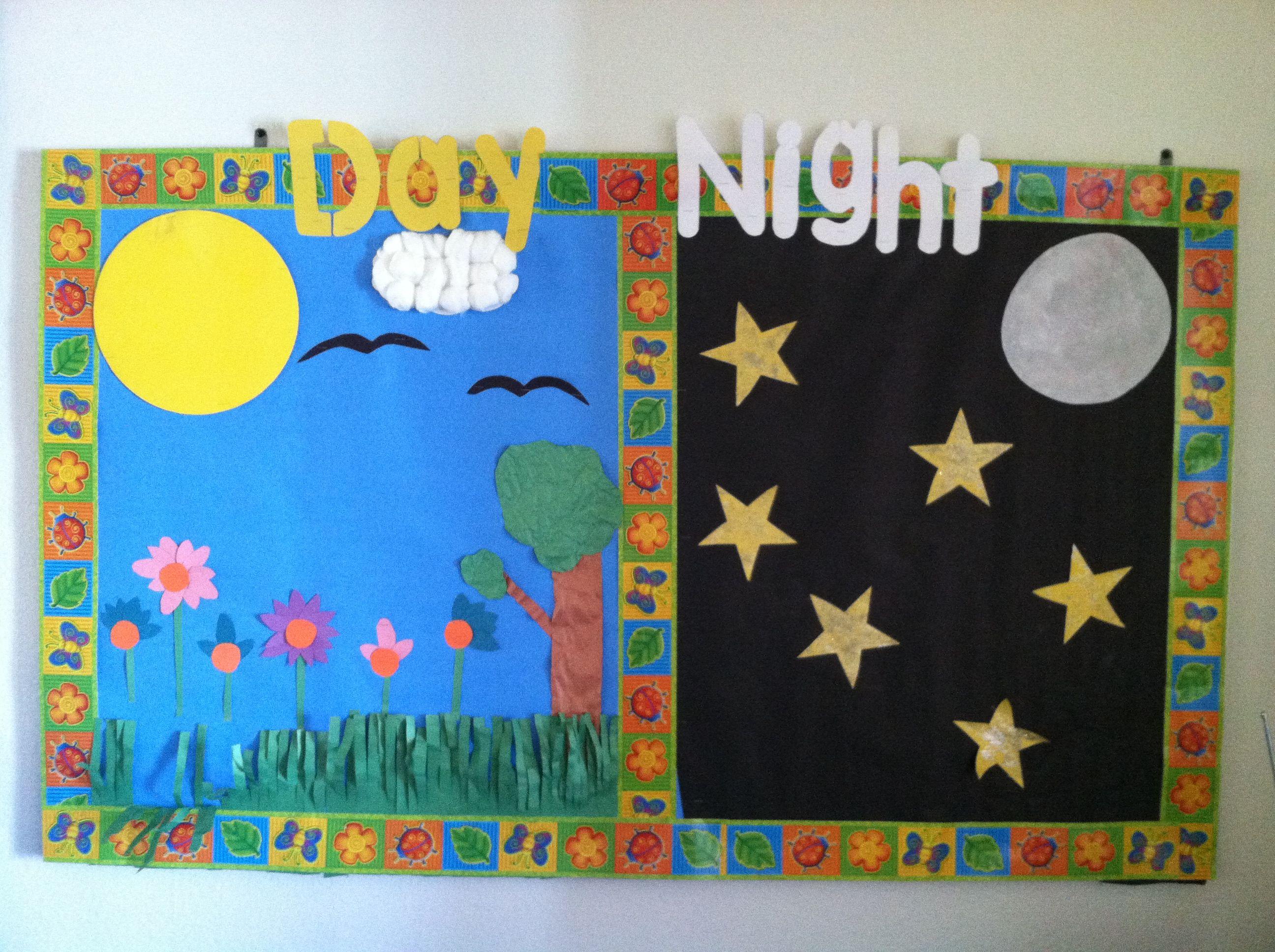 Day Night Bulletin Board By Kristin T