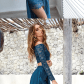 Off the shoulder long sleeves prom dress two piece long prom