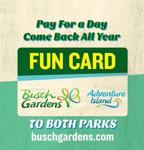 2017 Busch Gardens Tampa Bay Adventure Island Fun Card ...