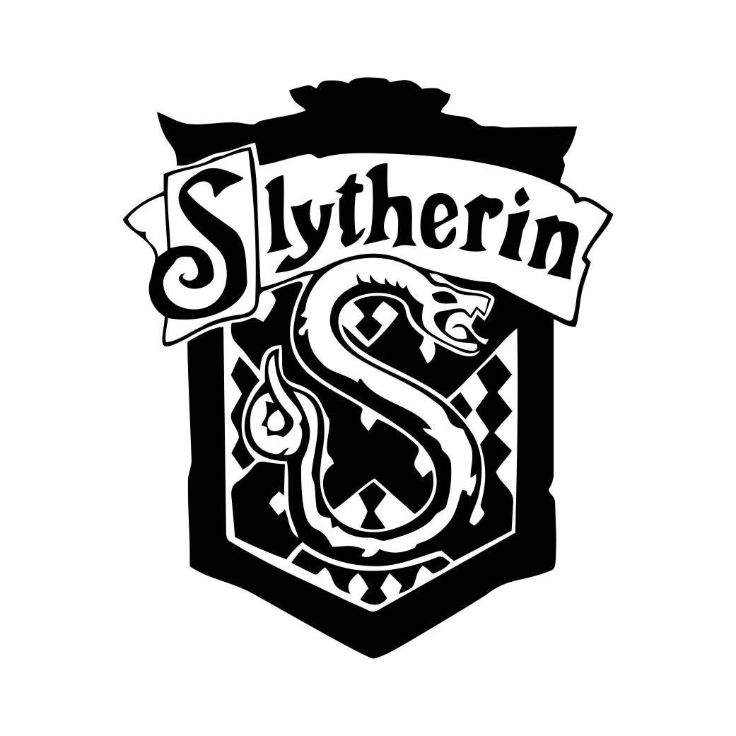 Slytherin Harry Potter House Badge Crest Graphics Svg Dxf