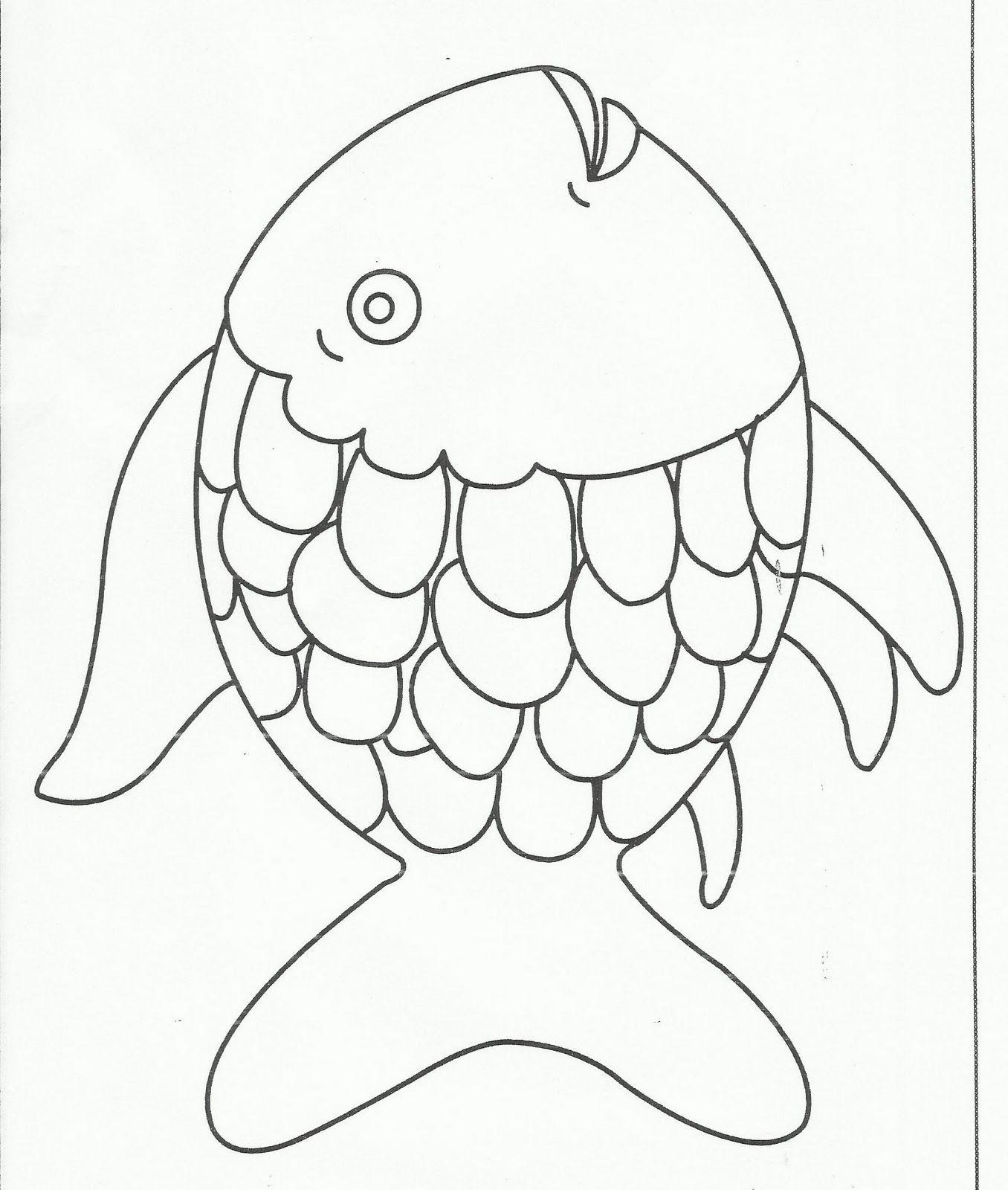 Rainbow Fish Preschool Templates