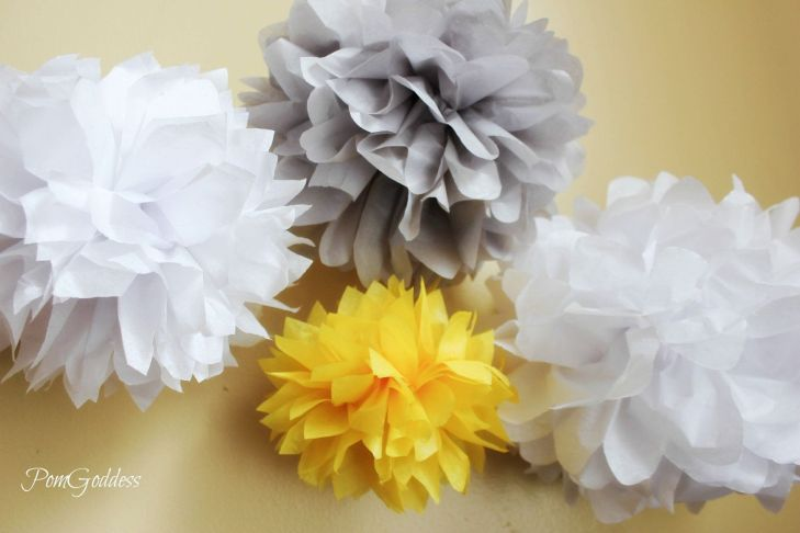 Wedding Decorations  Tissue Poms DIY  via Etsy  Wedding