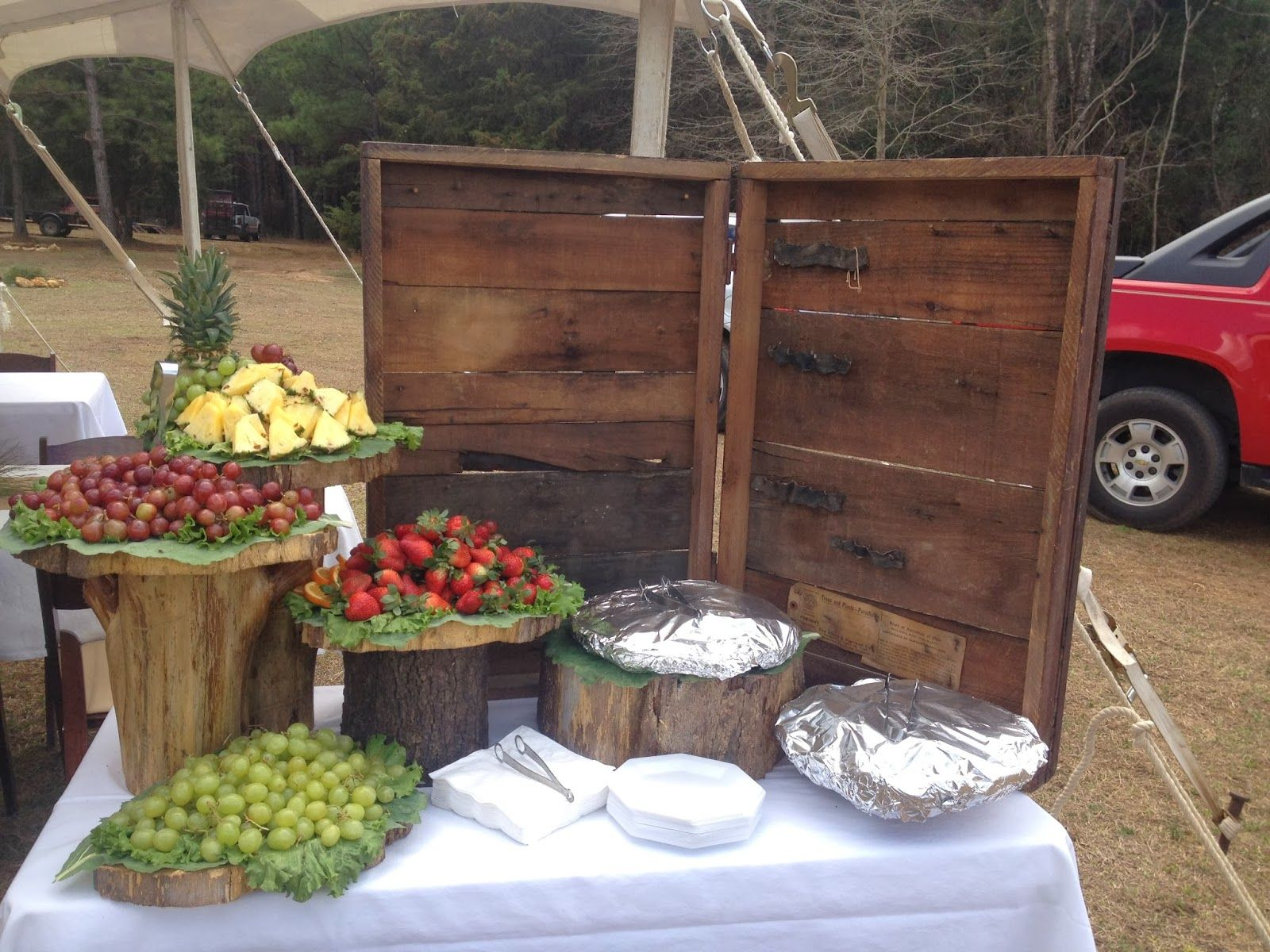 Food display Sweet Gum Bottom Bed and Breakfast Event with