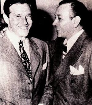In May 1944, Bugsy Siegel (left) was arrested for ...