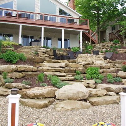 tiered yard landscaping | Landscape On A Hill Design Ideas ... on Tiered Yard Landscaping id=61024