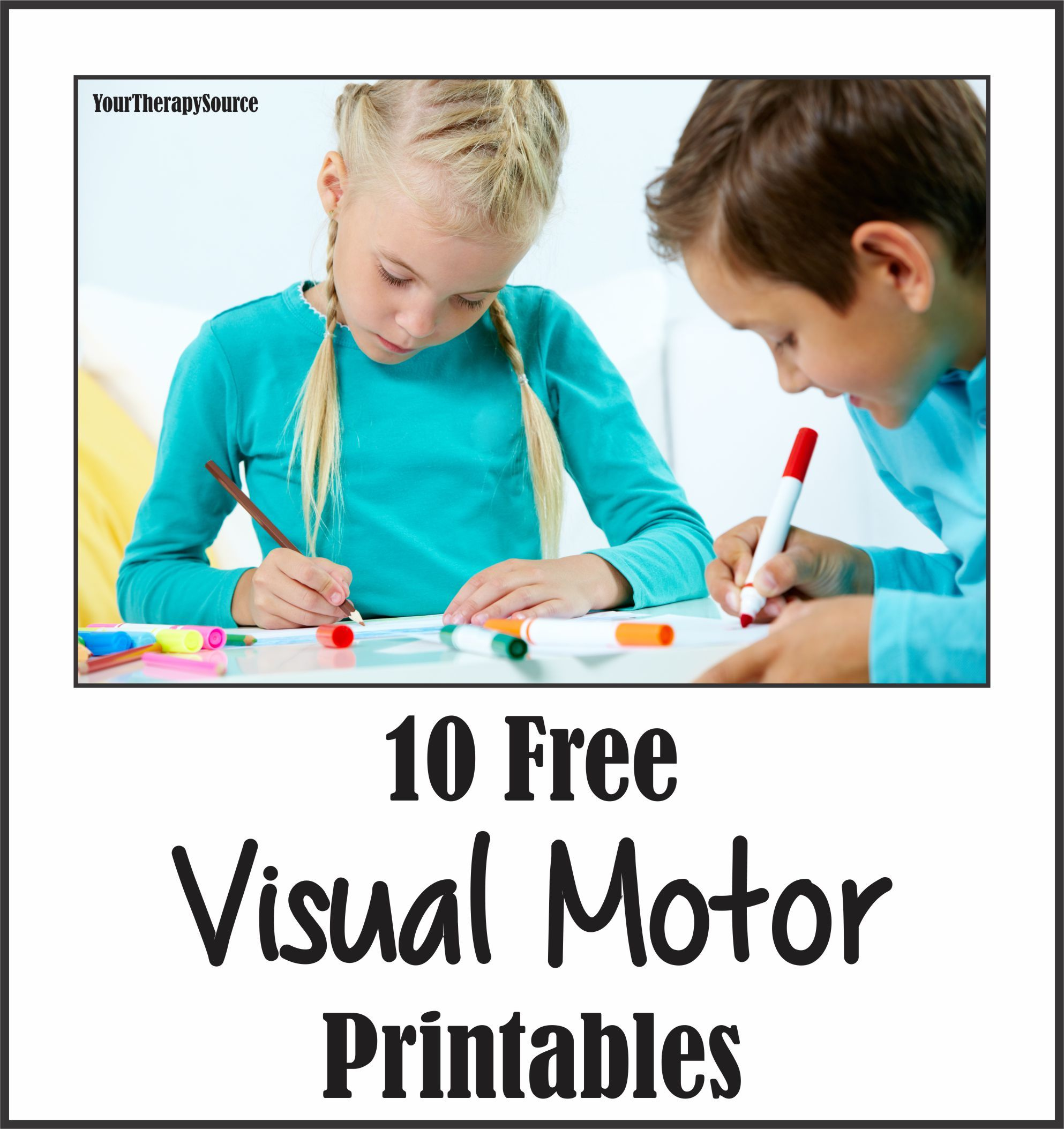 10 Visual Motor Freebies From Yourtherapysource