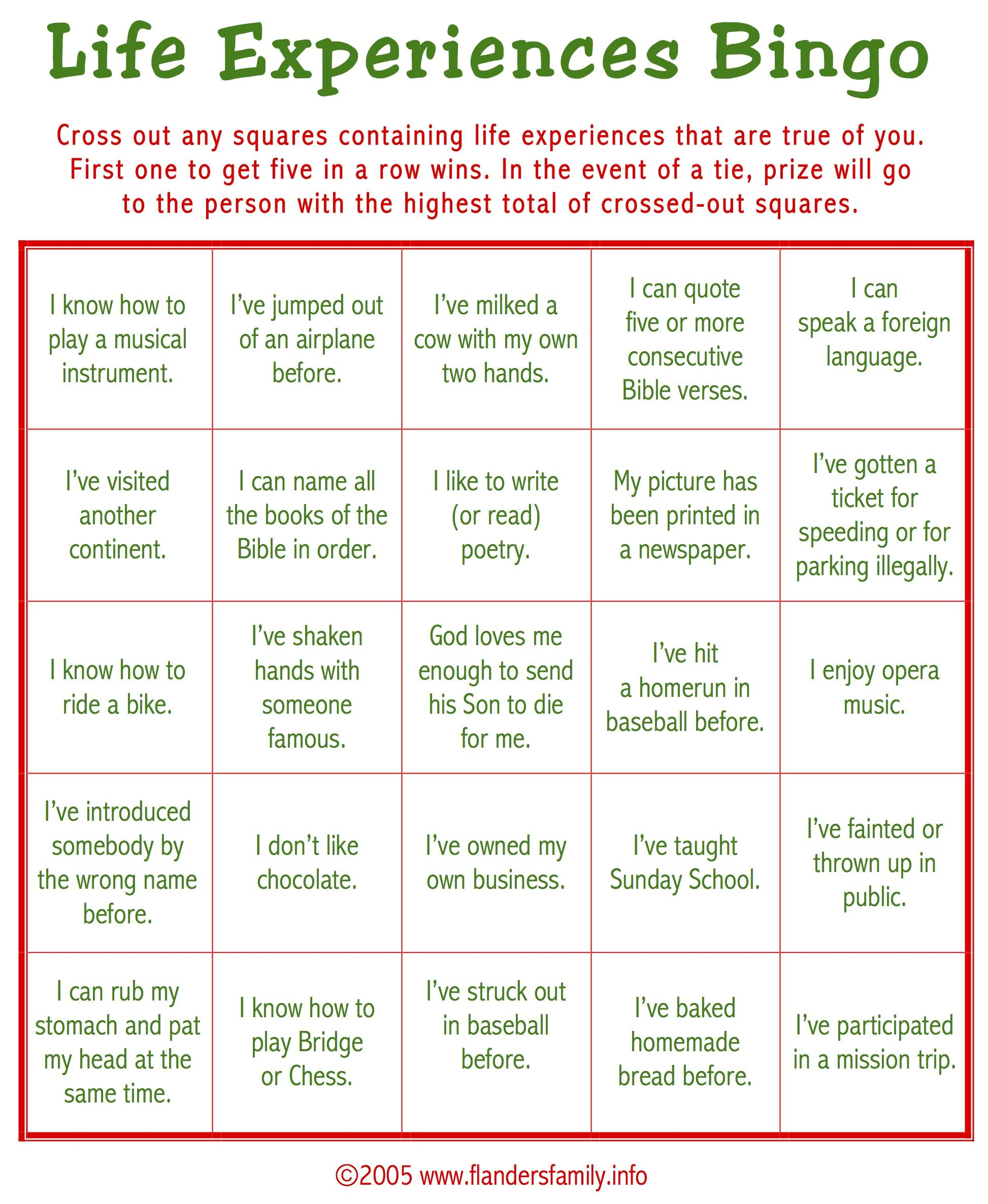 Free Printable This Game Is A Great Ice Breaker Play It