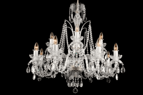 Crystal Lighting Black Chandeliers Classic And Modern Ceiling Metal Armed Fixtures