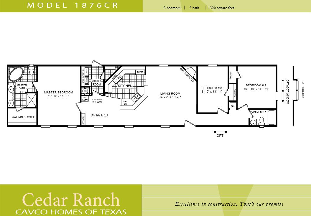 3 bedroom 1 bath mobile home plans